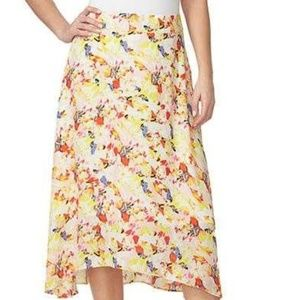 Chaus Fully Lined A Line Floral Bouquet Skirt 14